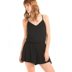GAP black cotton cami romper with adjustable strap